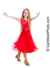 Pretty young girl dances