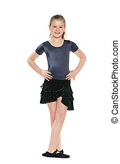 Pretty young girl dancing