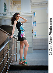Pretty young girl in dress