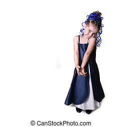 Pretty Young Girl in Formal Gown