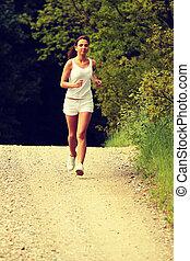 Pretty young girl runner.
