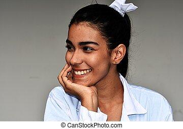 Pretty Young Hispanic Female Medical Professional