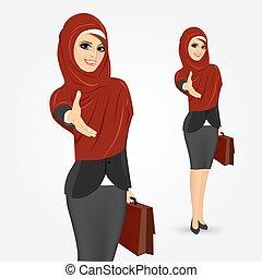 pretty young muslim woman