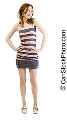Pretty young woman full length portrait