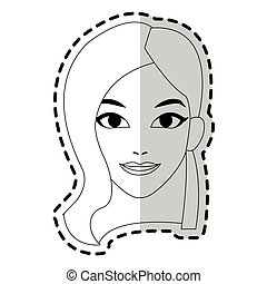 pretty young woman icon image