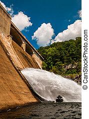 Prettyboy Dam, along  Gunpowder Falls in Baltimore County, Maryland.