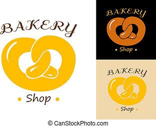 Pretzel bakery emblem