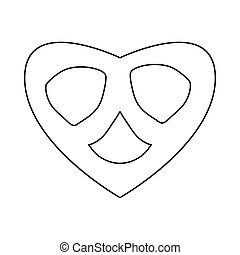 Pretzel icon in outline style