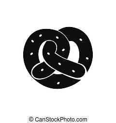 Pretzel icon in simple style