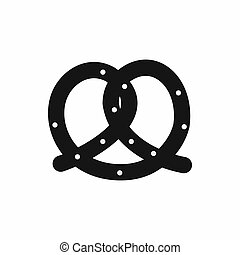 Pretzel icon, simple style