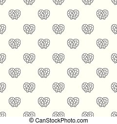 Pretzel pattern vector seamless
