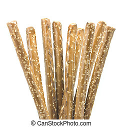 Pretzel Rods on White