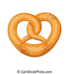 Pretzel salt and soft. Illustration for Oktoberfest