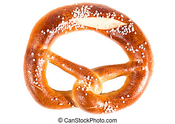 Pretzel V1 - bavarian pretzel isolated on white