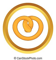 Pretzel vector icon
