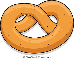 Pretzel vector illustration