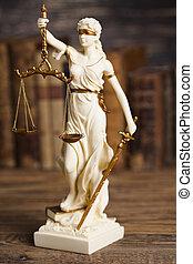 preuve, statue, justice, thème, fardeau, droit & loi