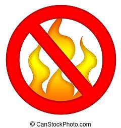 prevención de fuego, señal