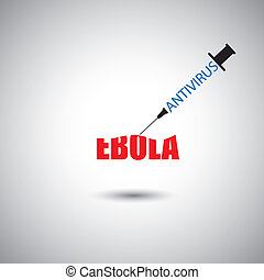 prevent ebola epidemic using antivirus concept - vector graphic
