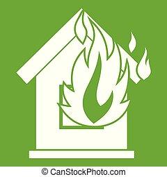Preventing fire icon green