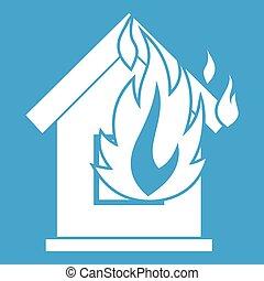 Preventing fire icon white