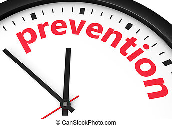 Prevention Healthcare Concept - Time for prevention, health...