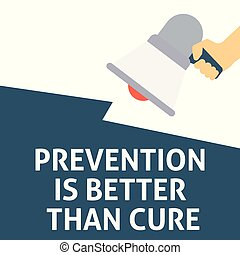 Prevention Is Better Than Cure Motivational Quote Written On Red