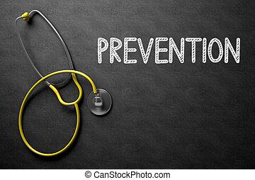 Prevention on Chalkboard. 3D Illustration. - Medical...