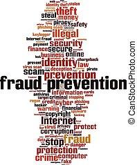 prevention-vertical, fraude, palavra, nuvem