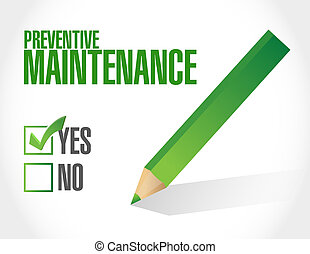 preventive maintenance approval sign concept illustration...
