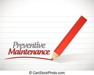 preventive maintenance message illustration