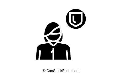 preventive medicine specialist animated glyph icon. preventive medicine specialist sign. isolated on white background