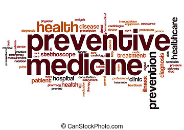 Preventive medicine word cloud concept