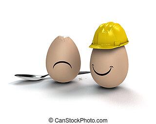 preventively, huevos, listo, pensar
