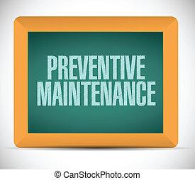 preventivo, mantenimiento, mensaje, señal