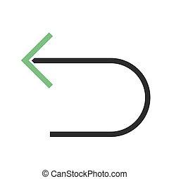 Previous - Back, arrow, left icon vector image. Can also be ...