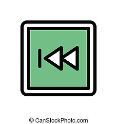 previous flat color icon