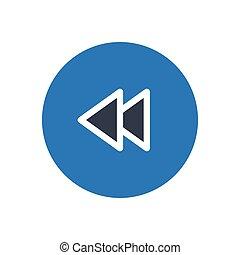 previous glyph color icon