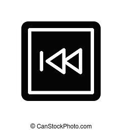 previous glyph flat icon