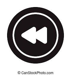 previous glyph flat vector icon