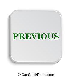 Previous icon. Internet button on white background.