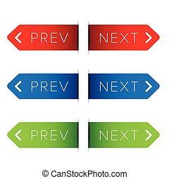 Previous next button sign vector