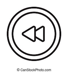 previous thin line vector icon
