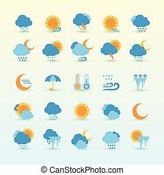 previsione tempo, e, meteorologia, set