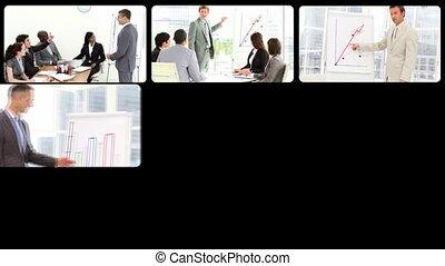 prezentacja, handlowy zaludniają