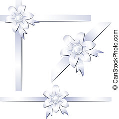 prezioso, fiori, nastri
