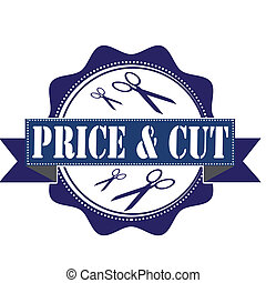 price and cut stamp