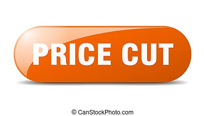 price cut button. sticker. banner. rounded glass sign