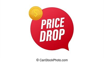 Price drop banner template design. Sale special offer. stock illustration