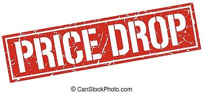 price drop square grunge stamp